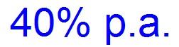 40 % im Jahr
