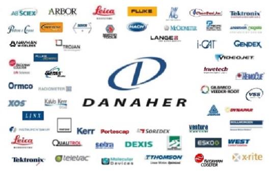 Auszug der zahlreichen Marken von Danaher